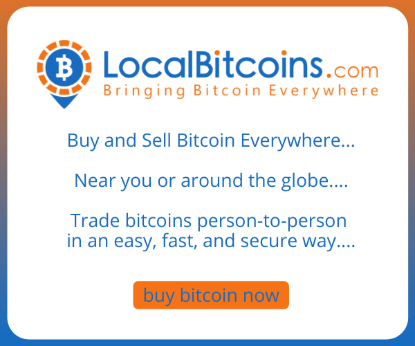 Local Bitcoins, buy sell and trade bitcoins near you