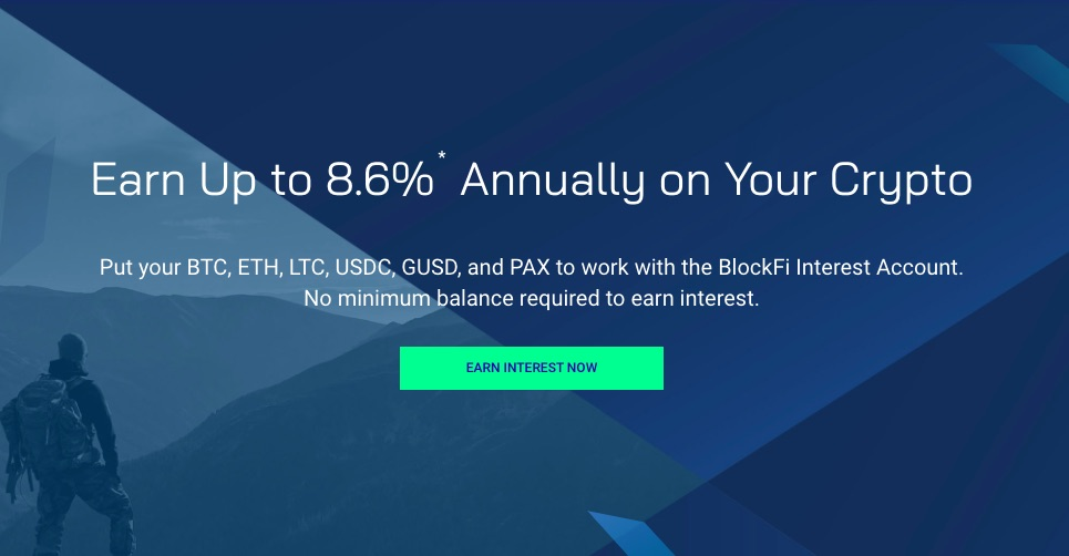 Earn up to 8.6% interest at Blockfi