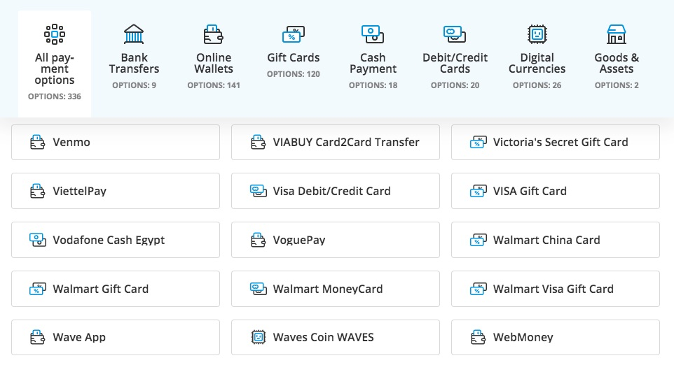 Paxful allows you to buy Bitcoin with Walmart gift card