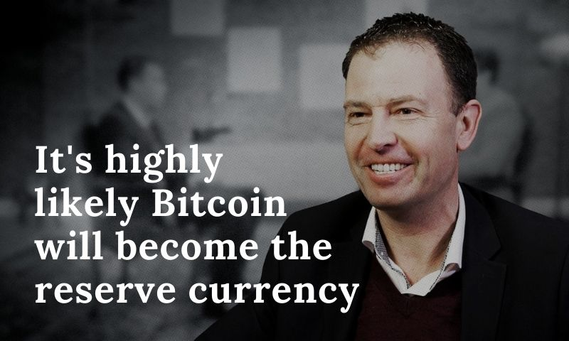 Jeff Booth believes Bitcoin will become the reserve currency which all fiat currencies will be pegged to