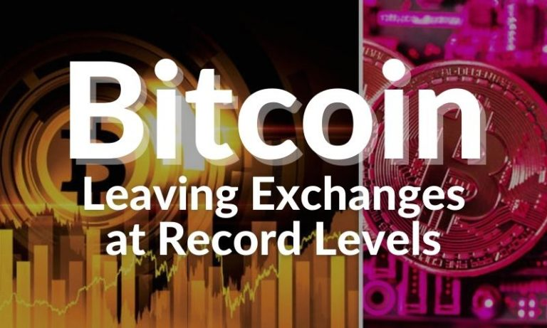 hodlers in control as record numbers of bitcoins leave exchanges