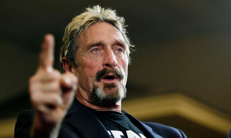 John Mcafee didn't eat his dick, on national television at least